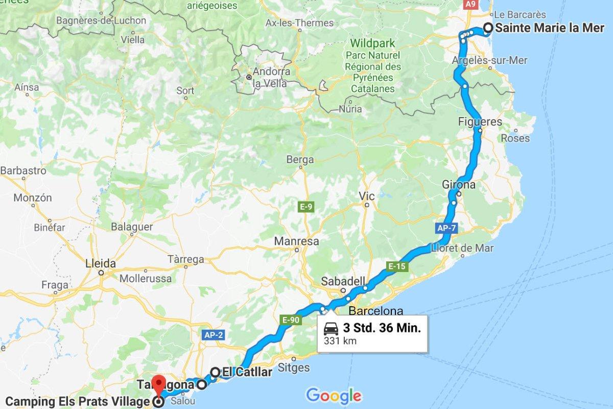 Sainte Marie la Mer – Tarragona – Camping Els Plats Village