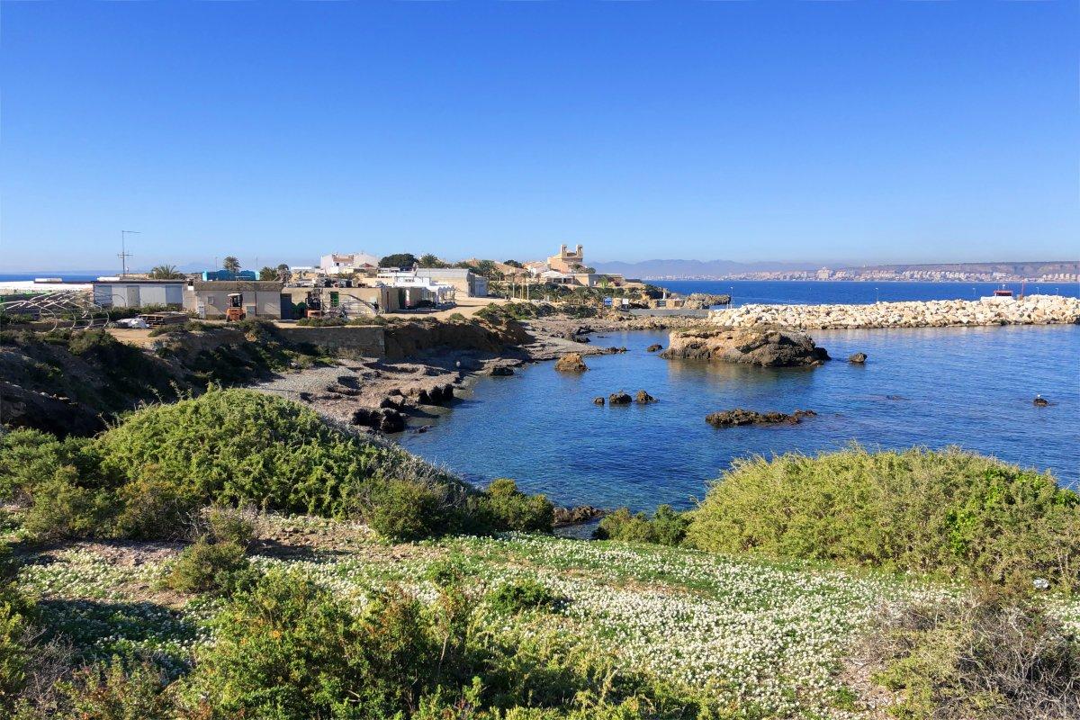 Blick auf den bebauten Teil von Tabarca