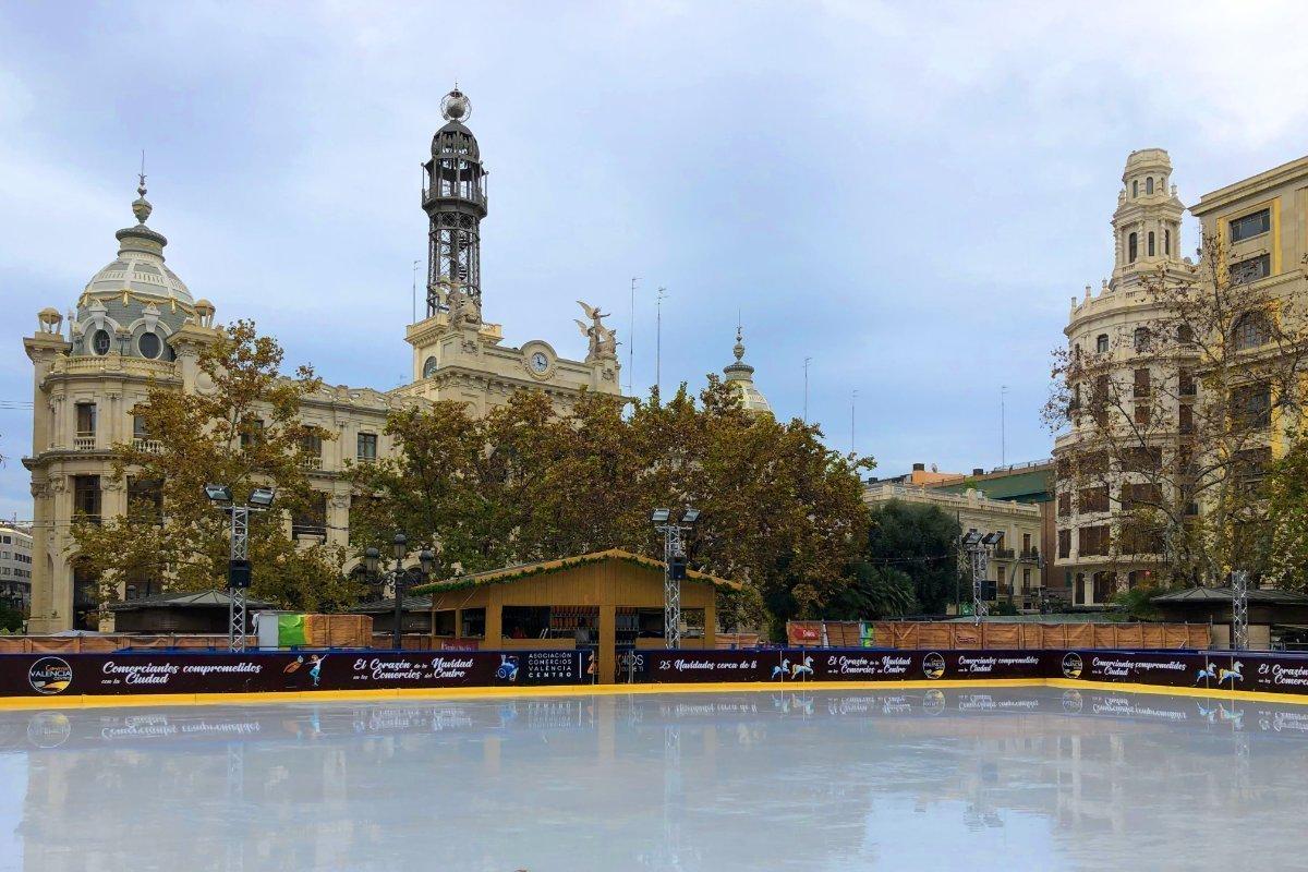 Eisbahn im Zentrum von Valencia