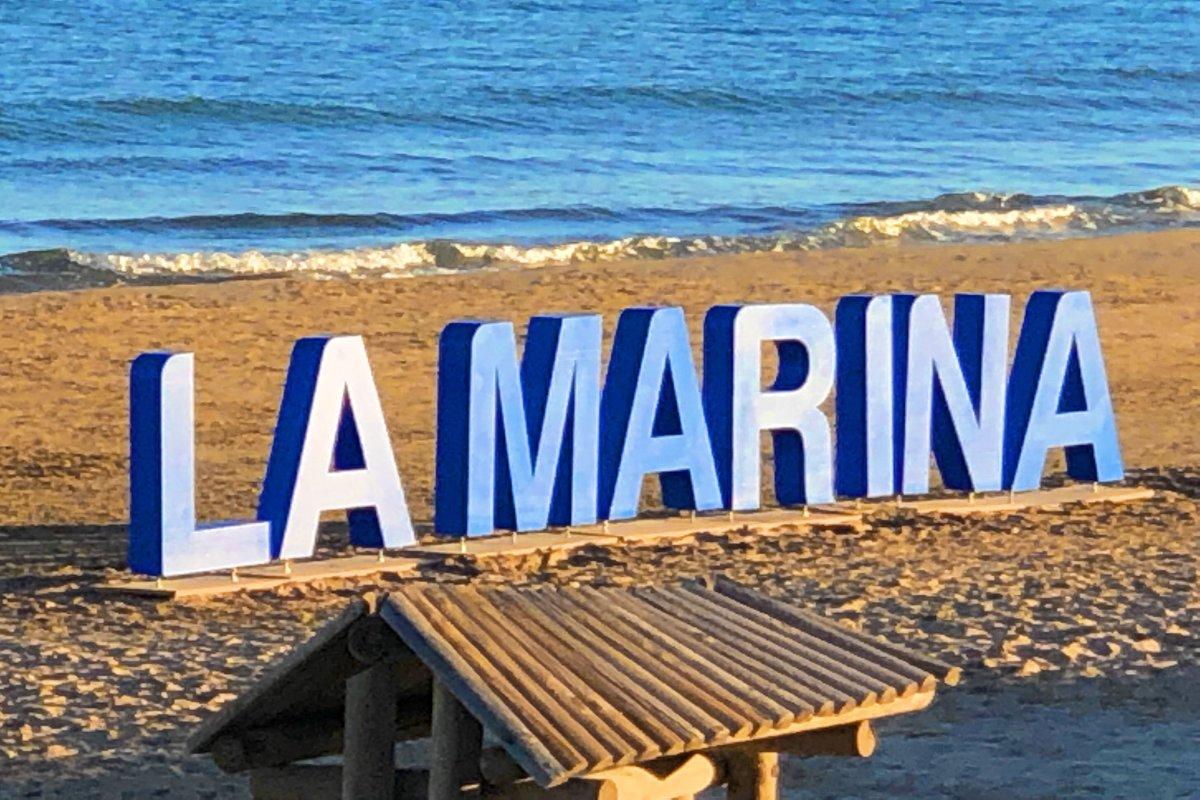 Werbeveranstaltung am Strand
