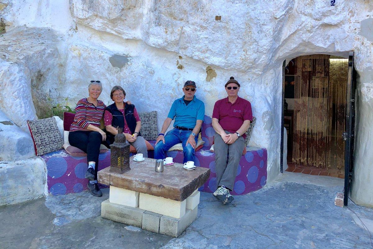 Mit Bärbel und Ulli im Höhlen-Café
