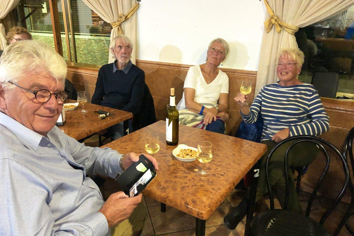 Spaß mit Christa und Reinhard beim Musikabend