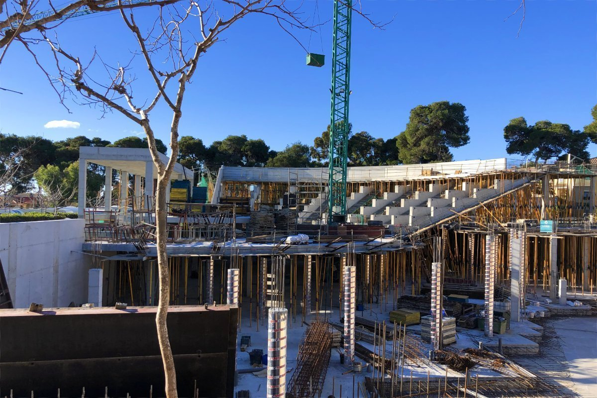 Amphi-Theater Baustelle
