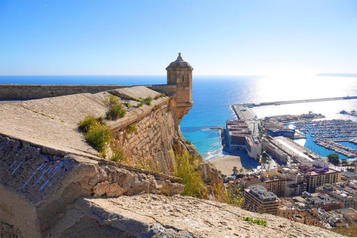 Blick vom Castell auf den Hafen