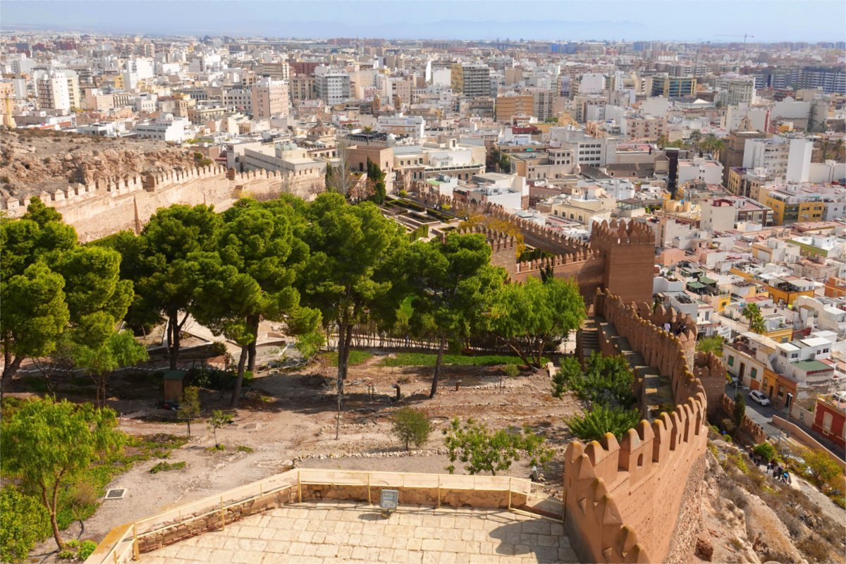 Blick von der Festung auf die Stadt
