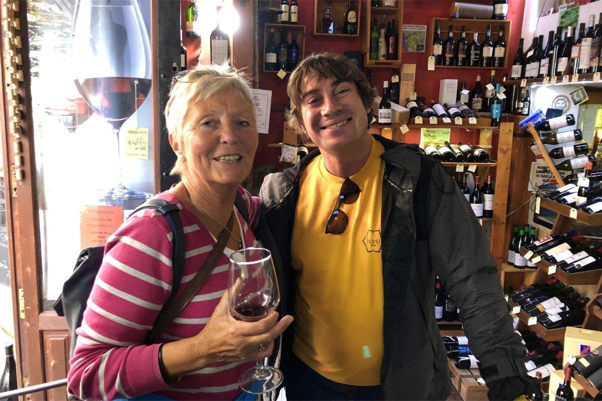 Anne mit dem italienischen Restaurantbesitzer Guido