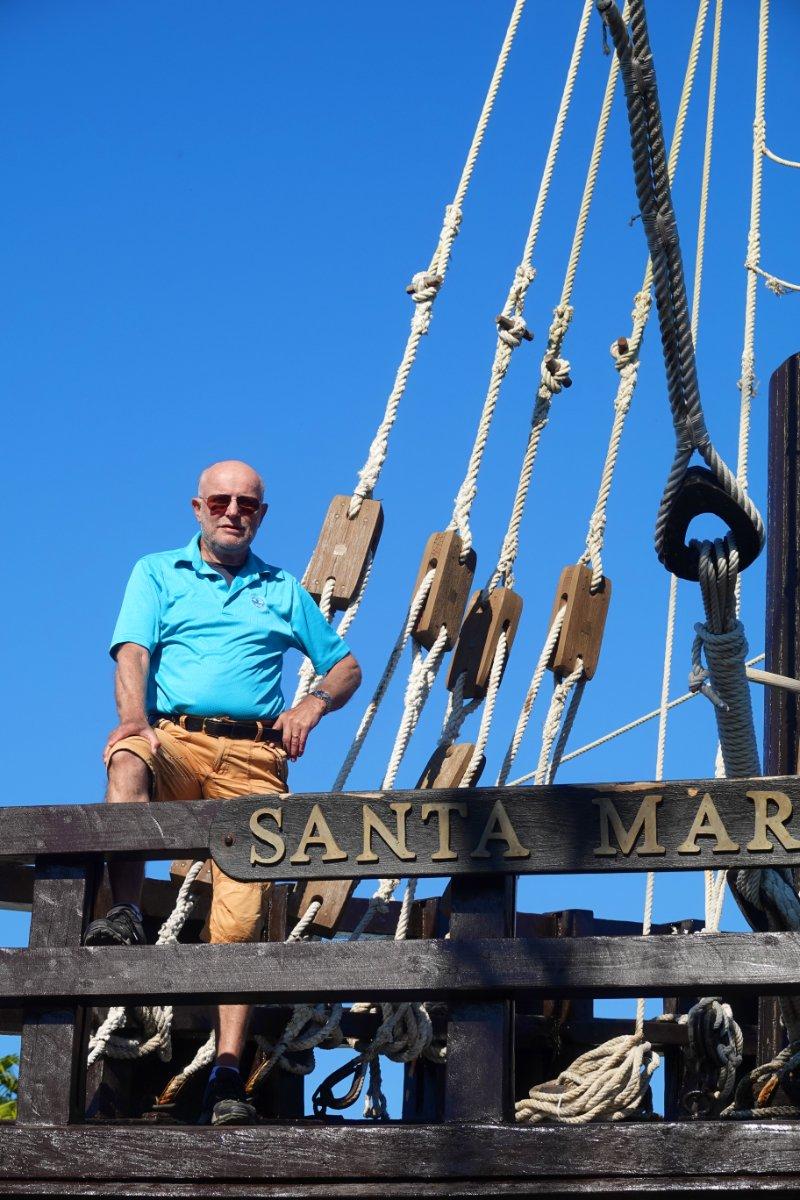 Frederick auf der Santa Maria
