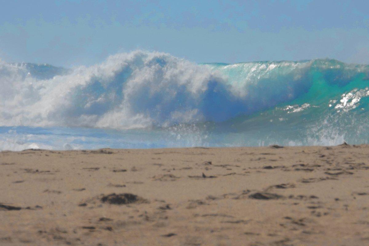 Gewaltige Wellen am Atlantik