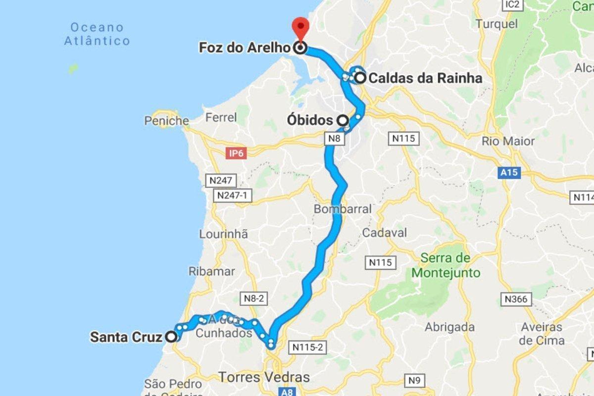 Santa Cruz - Óbidos - Calds da Rainha - Foz do Arelho