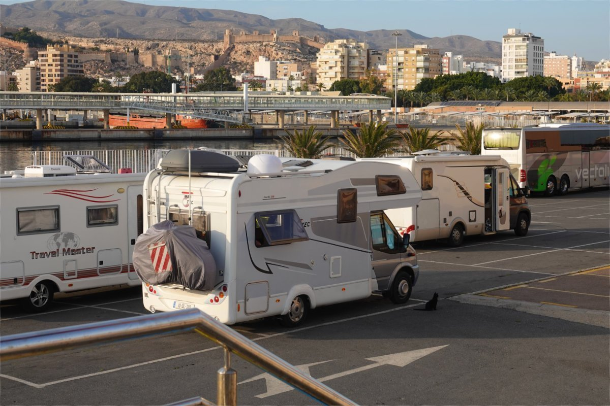 Stellplatz am Hafen von Almeria