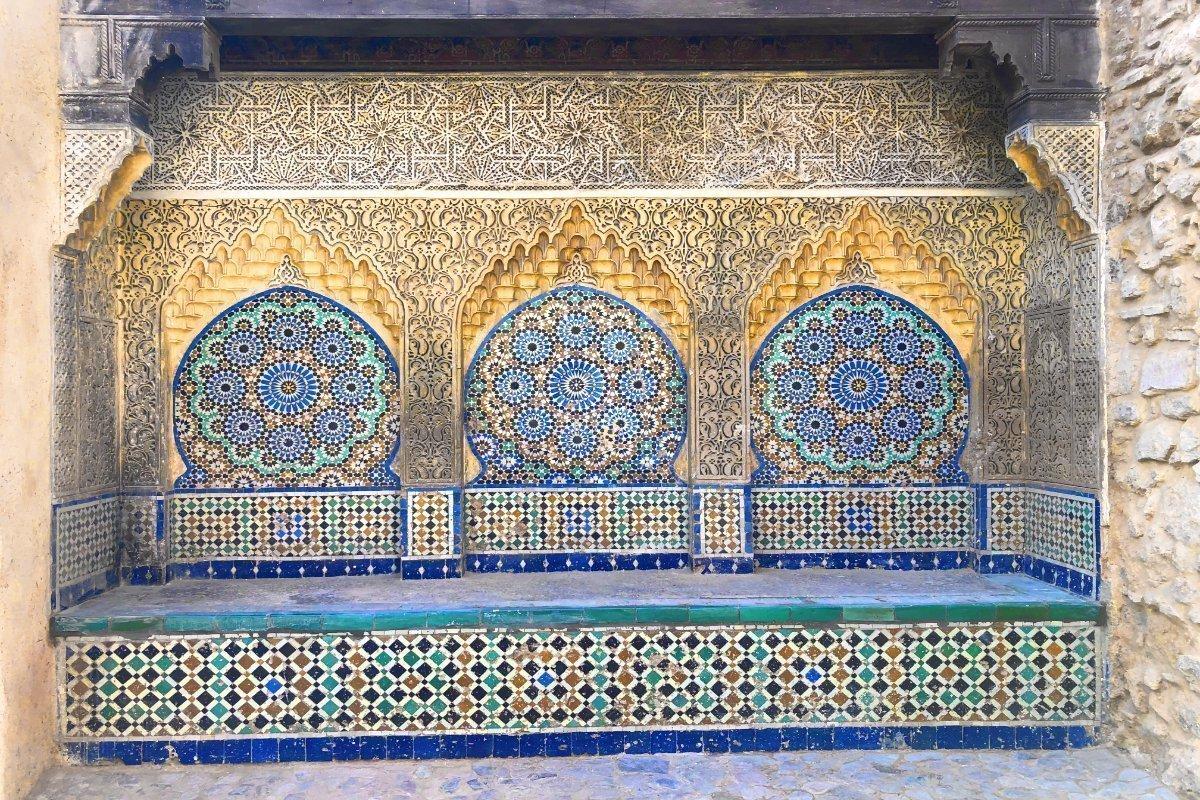 Orientasche Fliesendekoration in der Kasbah
