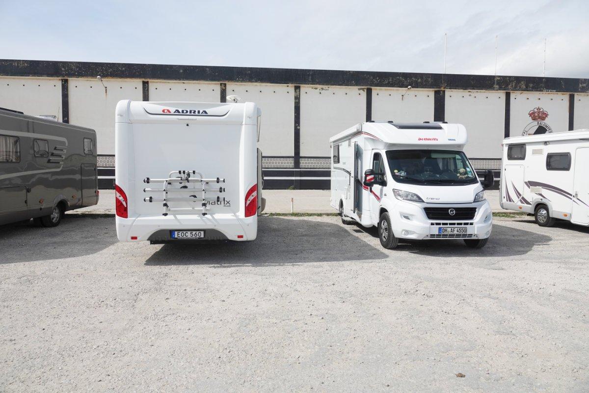 Unser Stellplatz vor Gibraltar
