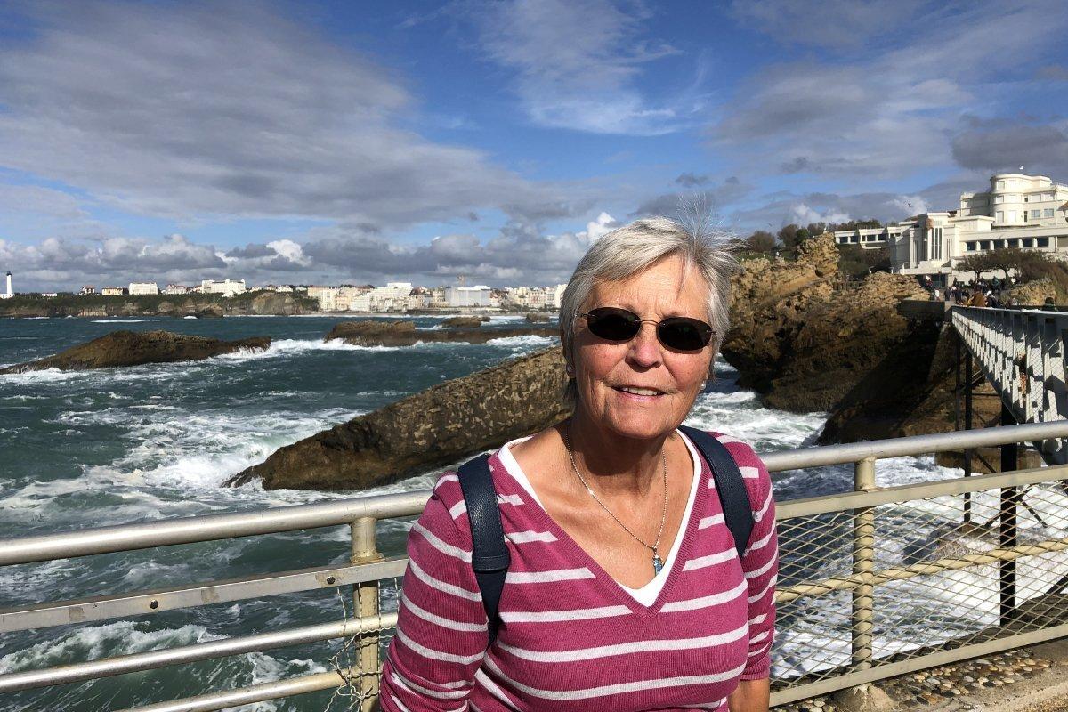 Anne an der Atlantikküste in Biarritz