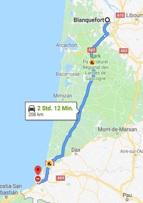 Biarritz - Blanquefort (Bordeaus)