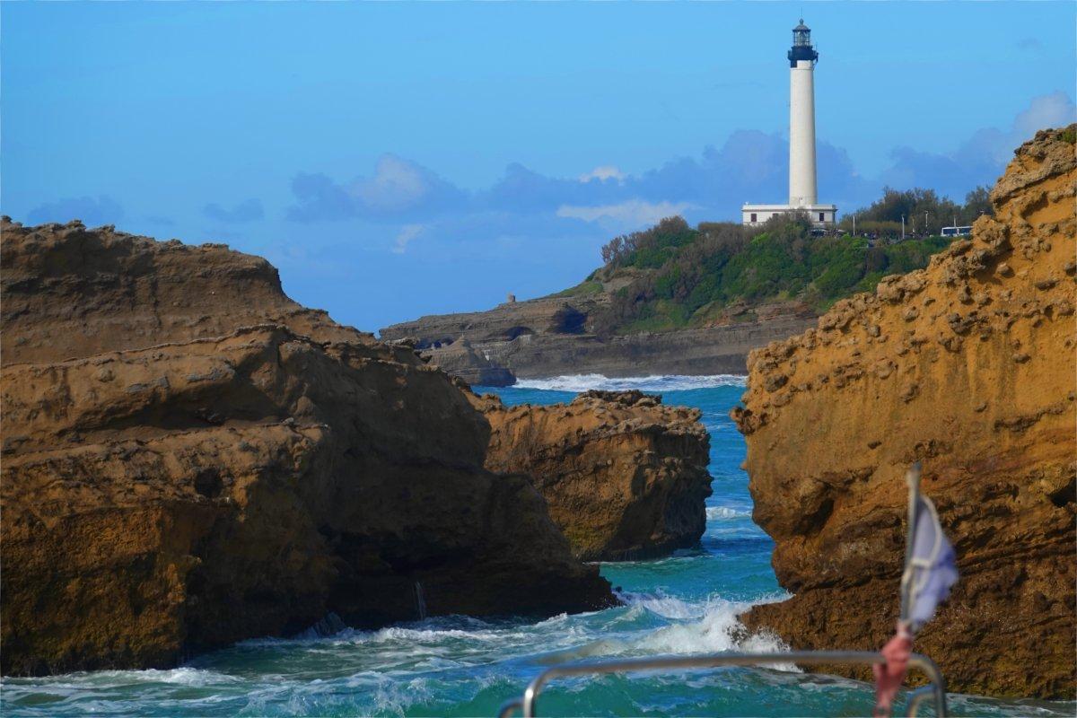 Biarritz Küste mit Leuchtturm