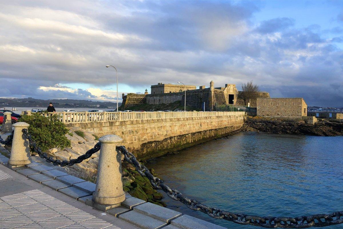 Die Festung von La Coruña