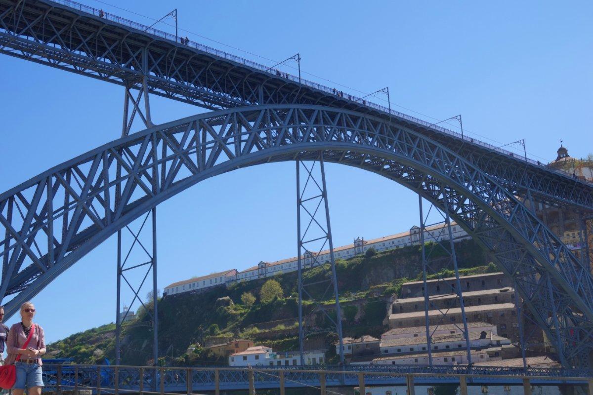 Die mächtige Louis I Brücke