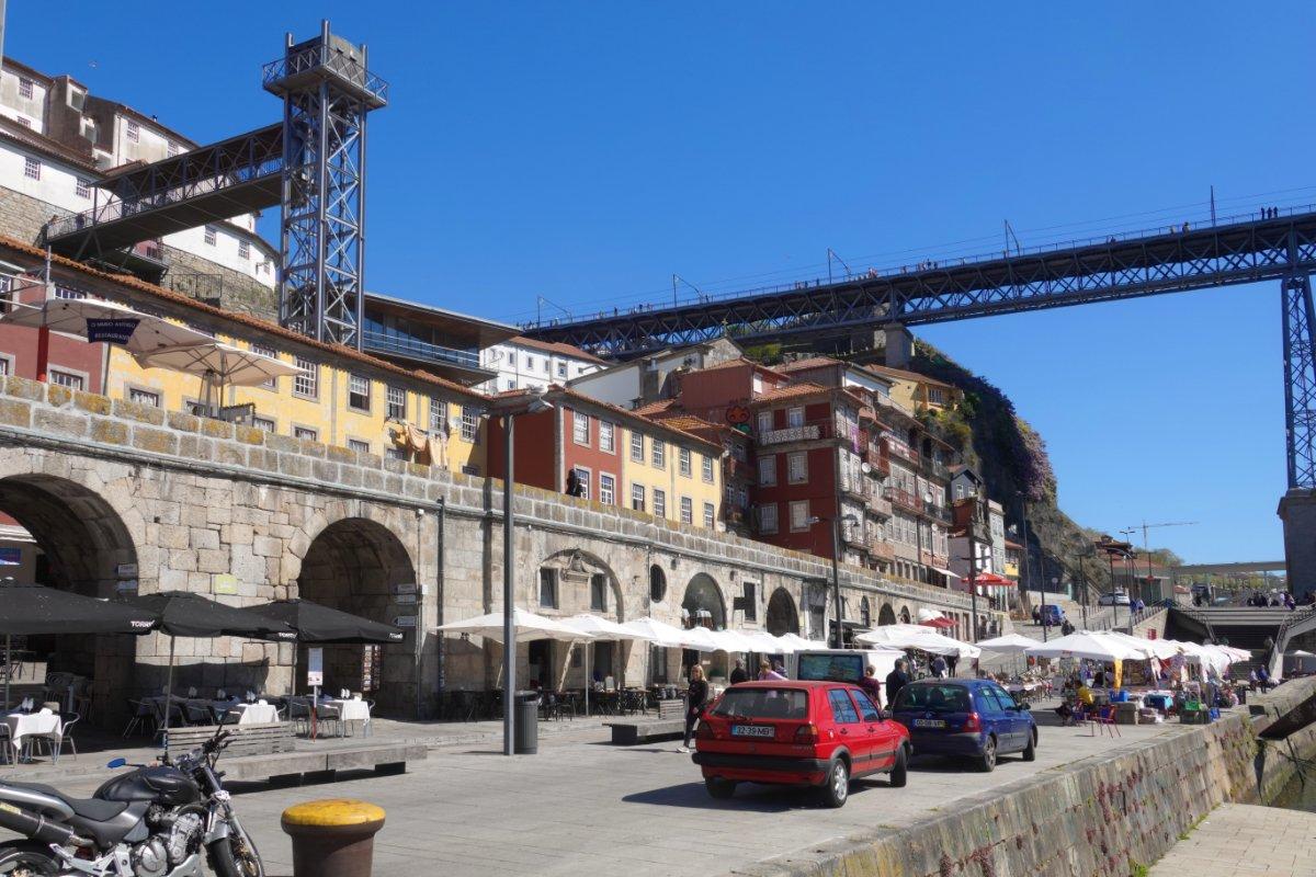 Kleines Portweinlokal (links) am Ufer des Douro