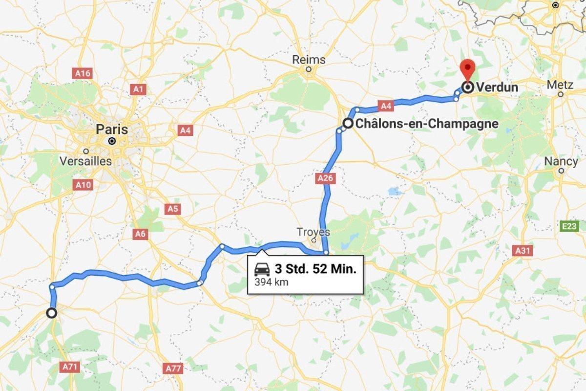 La Chappelle-Saint-Mesmin - Chalons en Champagne - Verdun
