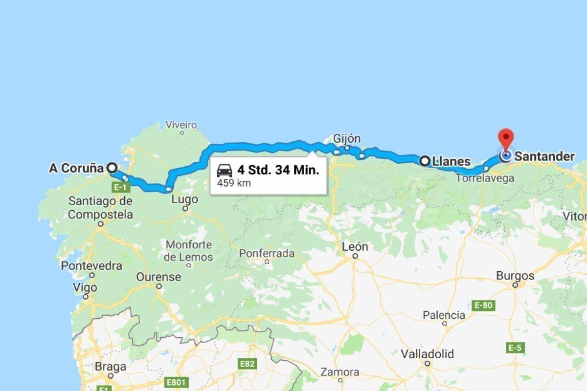 La Coruña - LLanes - Santander