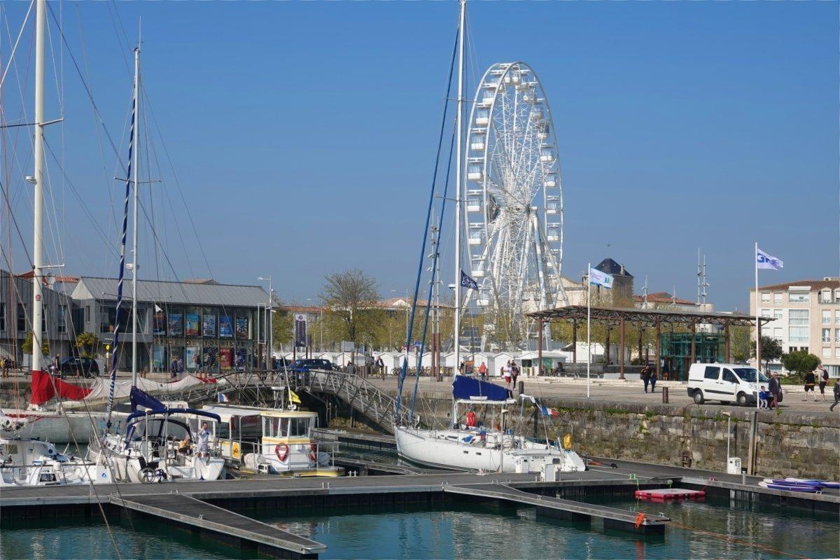Sanierter Hafenbereich mit Riesenrad