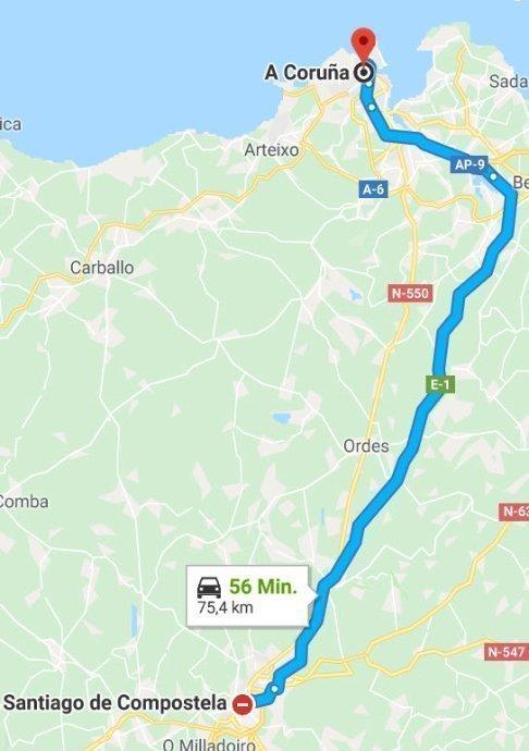 Santiag de la Compostela - La Coruña