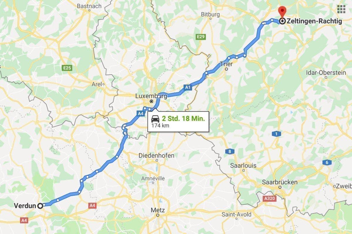 Verdun - Zeltingen (Mosel)