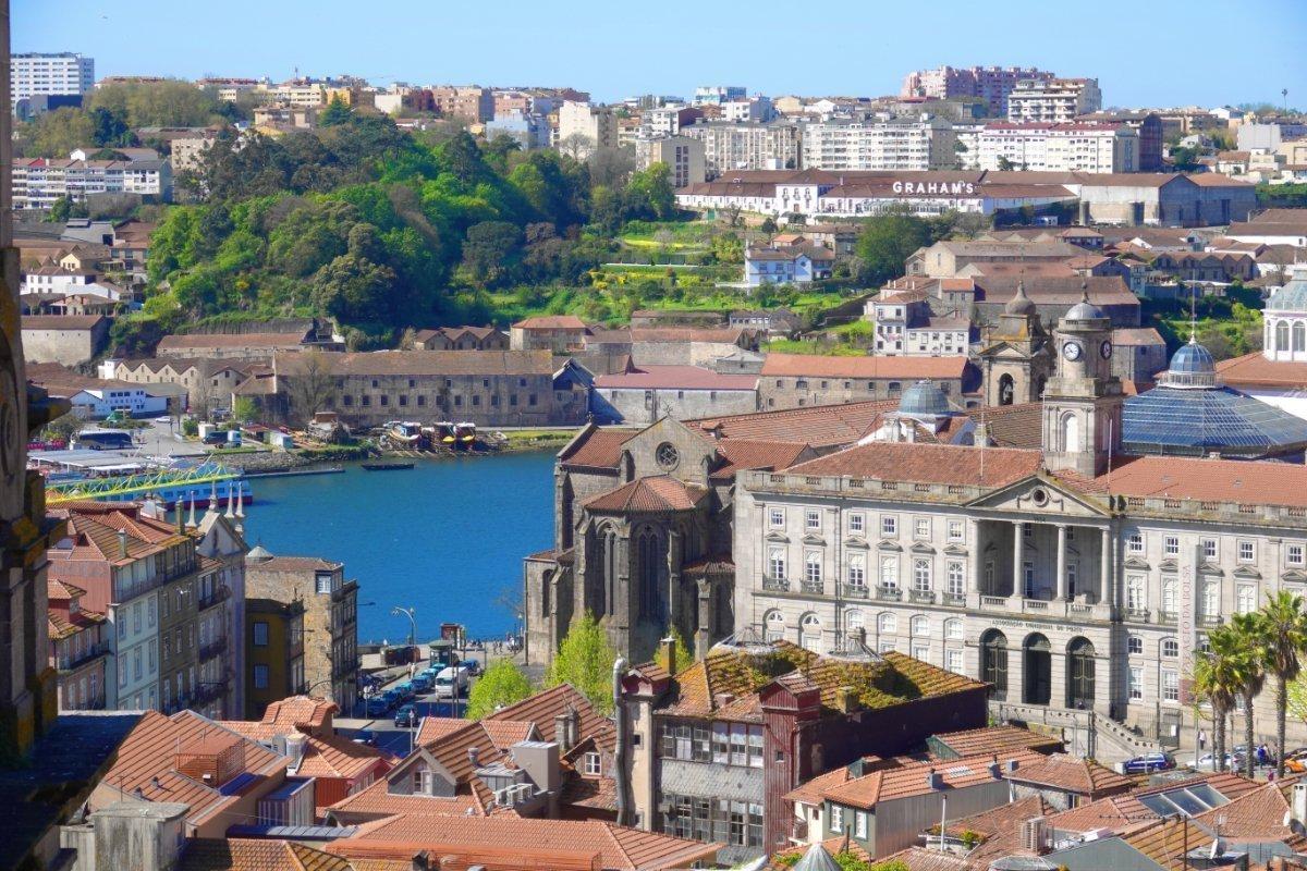 Vorne Porto, auf der anderen Flussseite Gaia