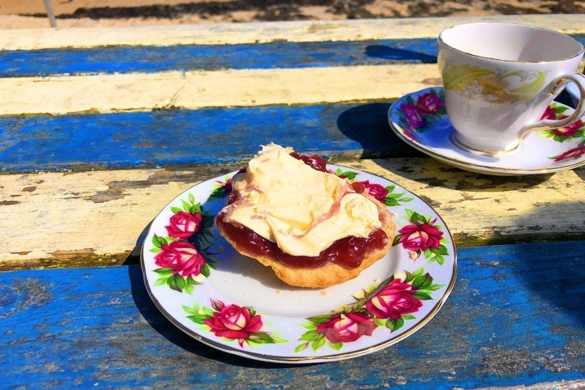 Cream Tea at Maenporth Beach