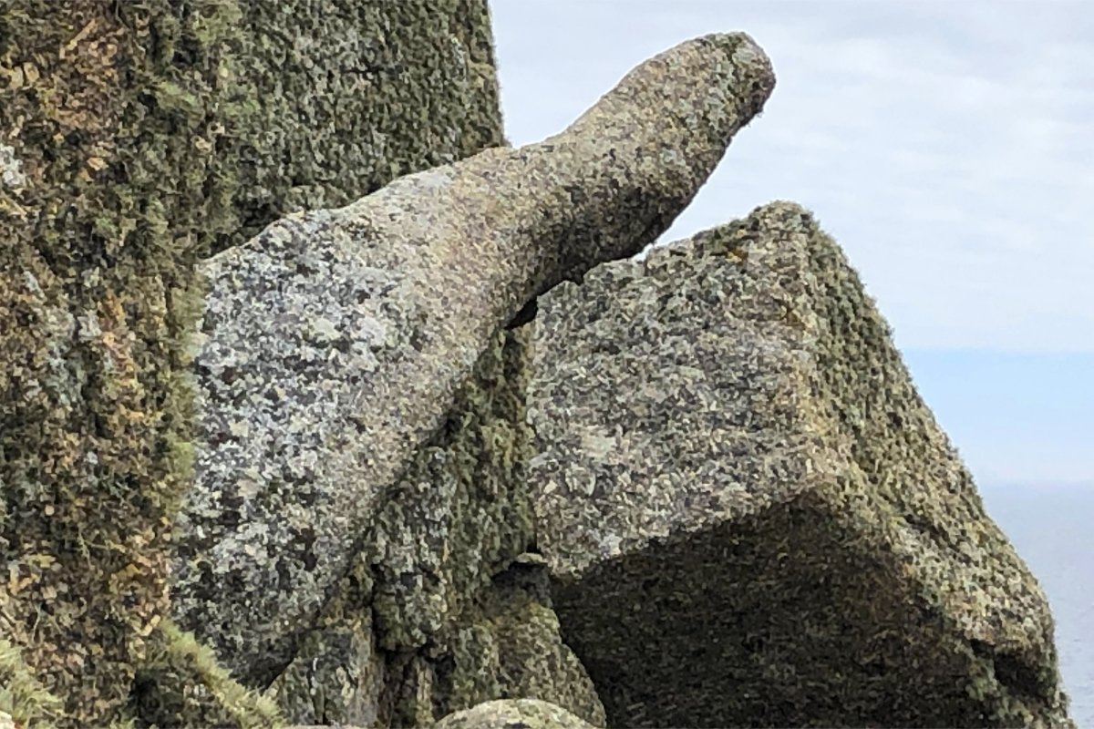 Fels in der Form eines Daumens am Logan Rock