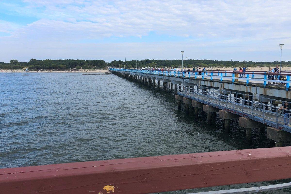 600 m lange Pier in Palanga