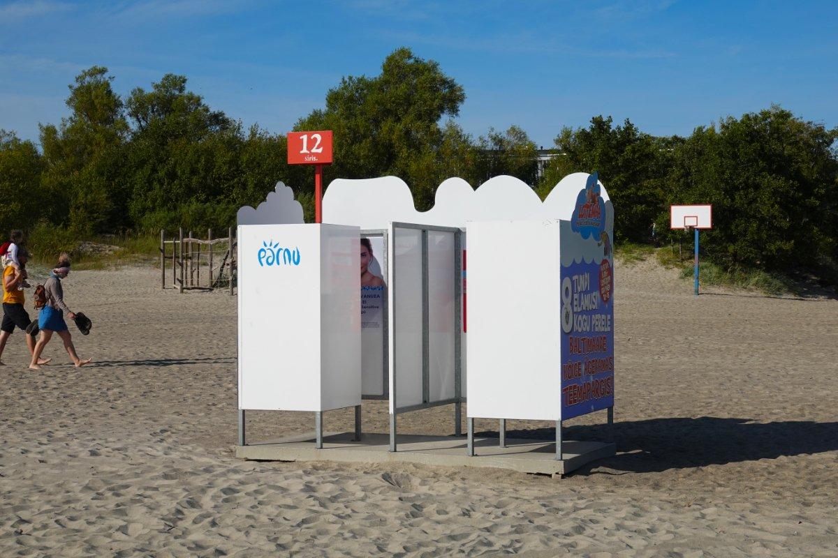 Auch in Estland - Umkleidekabinen am Strand