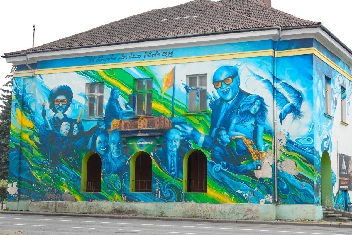 Beeindruckende Wandmalerei