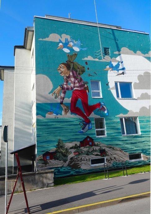 Schöne Wandmalerei