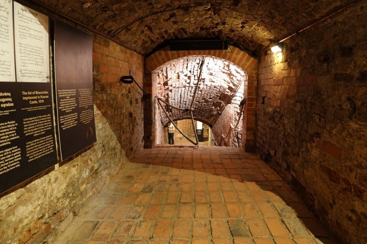 Blick in das Burggewölbe