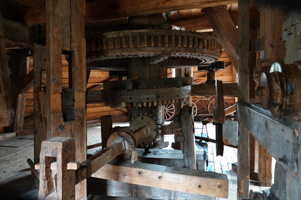 Das Originalgetriebe der Mühle