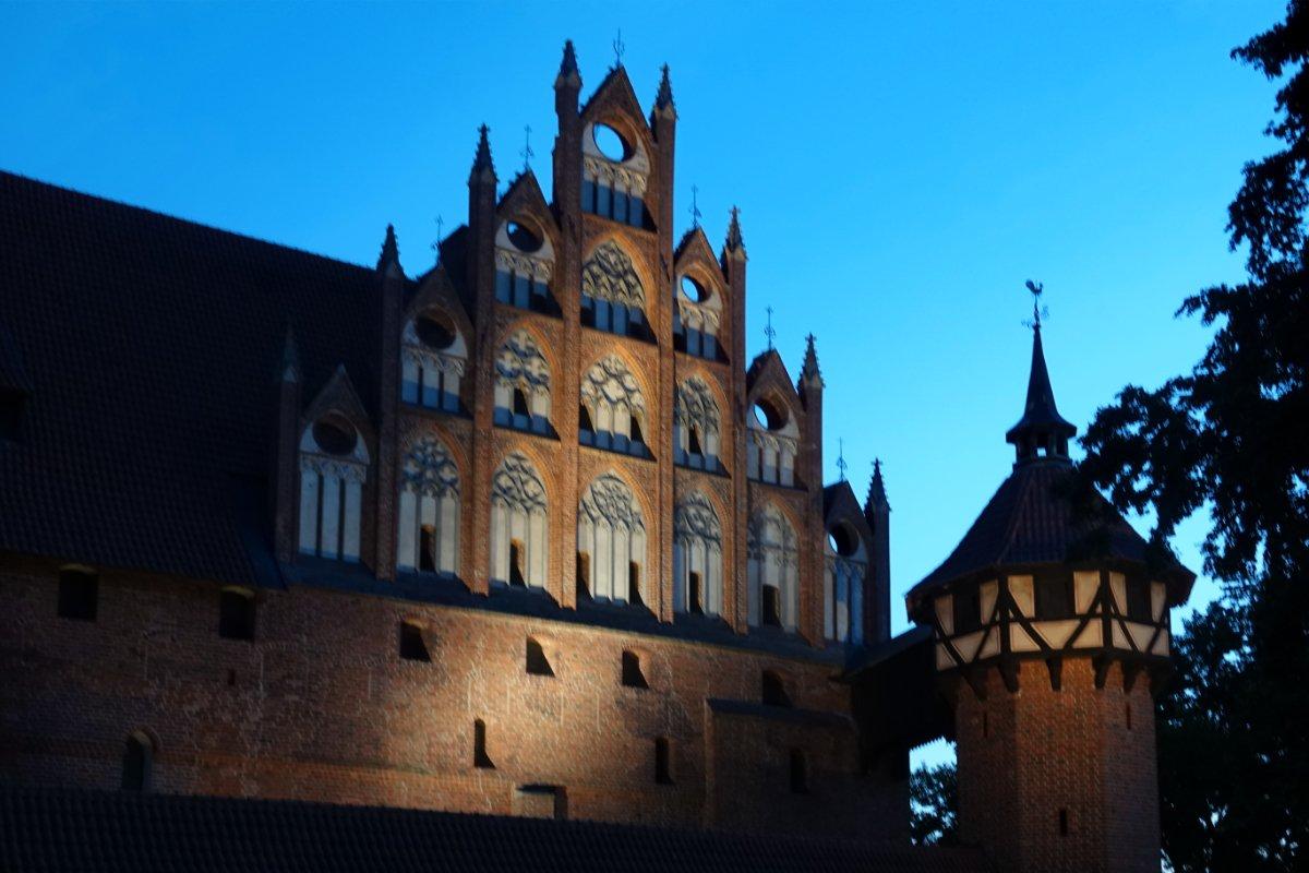Die angestrahlte Marienburg