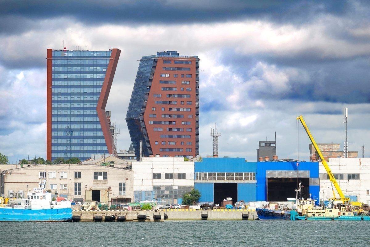 Die beiden markanten Wohntürme von Klaipeda