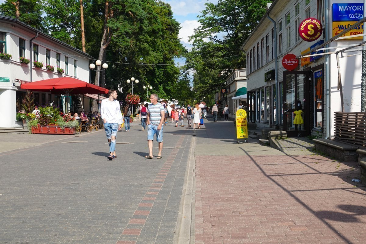 Jurmala Fußgängerzone