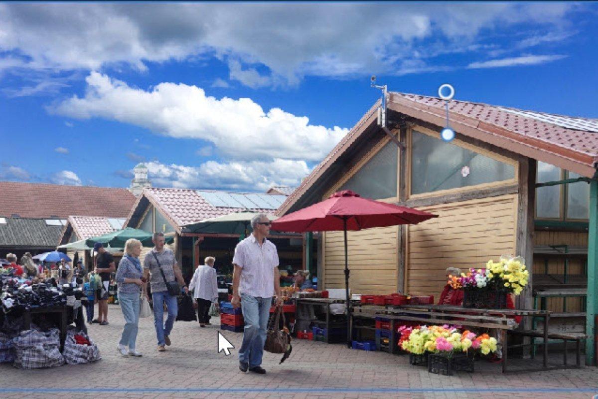 Markt in Ventspils (findet jeden Tag statt)