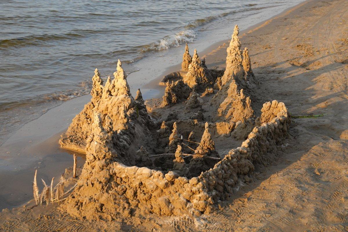 So sieht eine richtige Strandburg aus