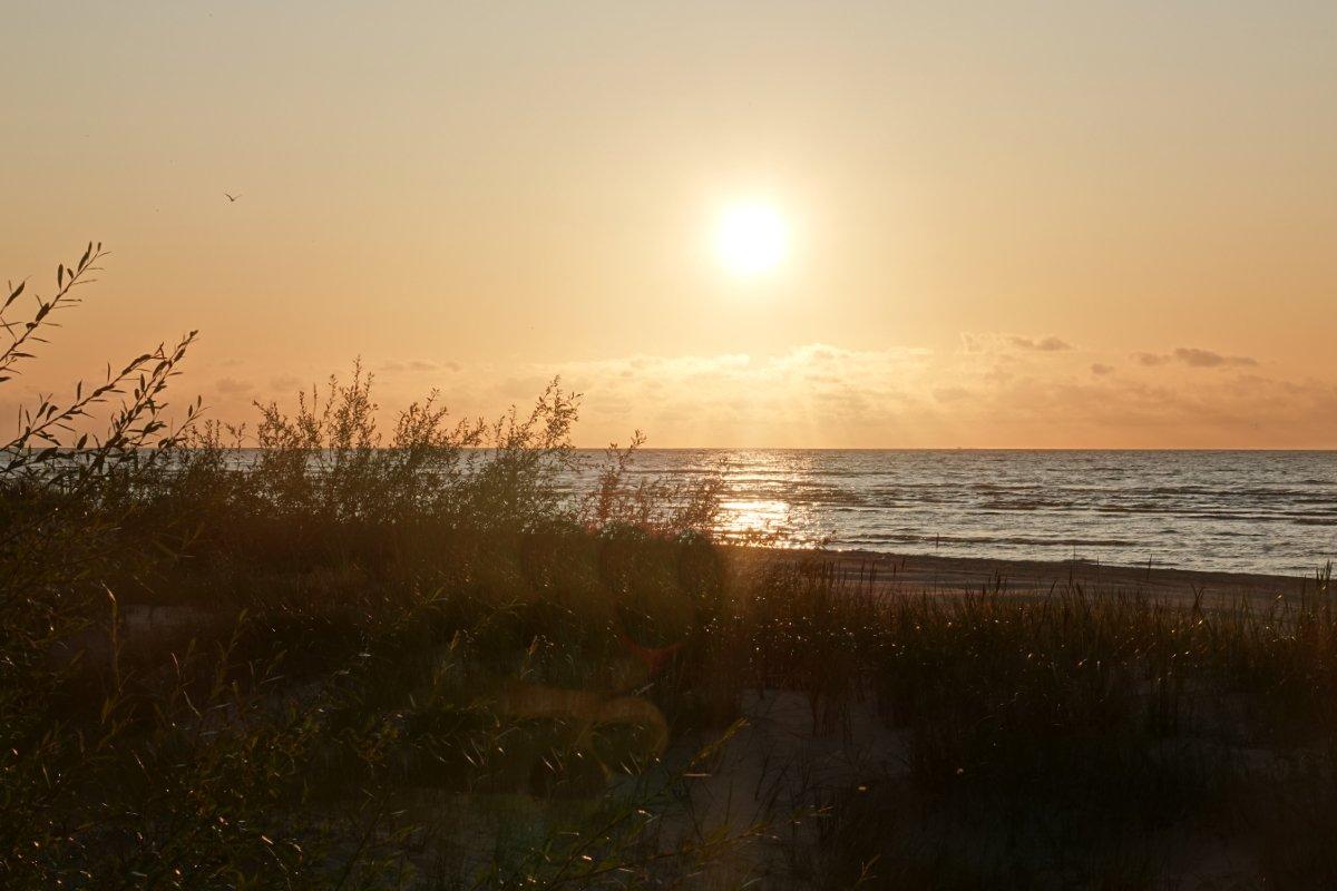 Sonnenuntergang am Kap Kolka