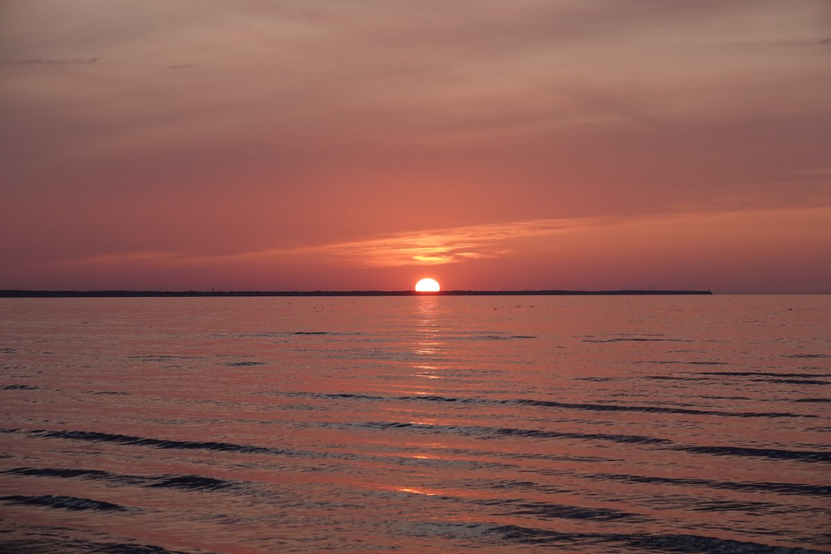Sonnenuntergang am Strand von Jurmala