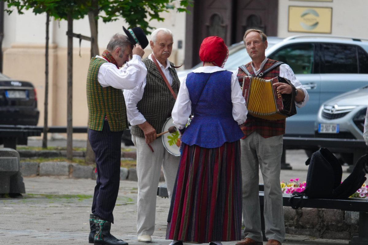 Spontanes Volksmusikständchen