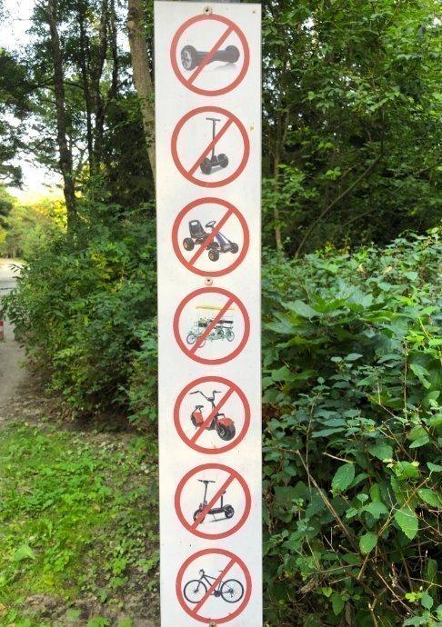 Verbote im Park
