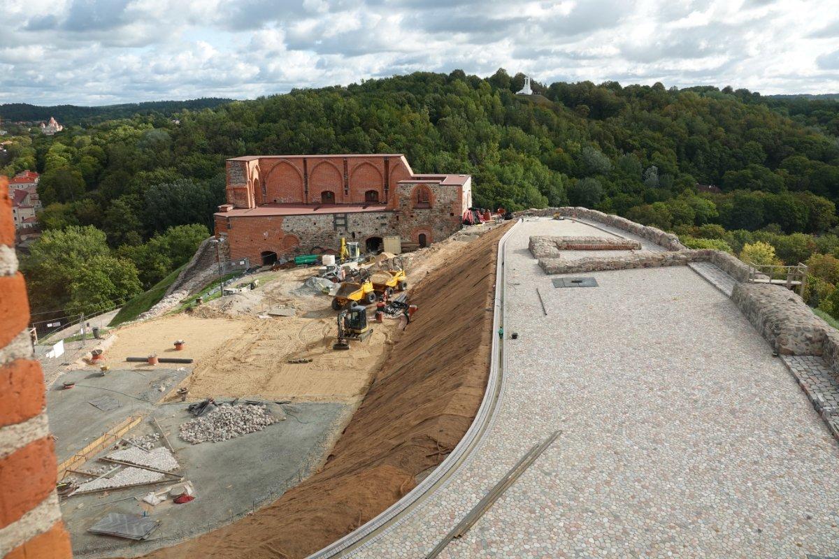Baustelle auf dem Burgberg