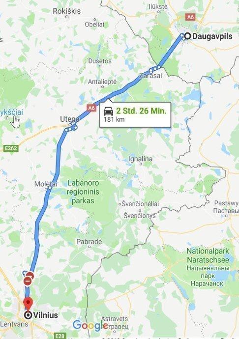 Daugavpils - Vilnius
