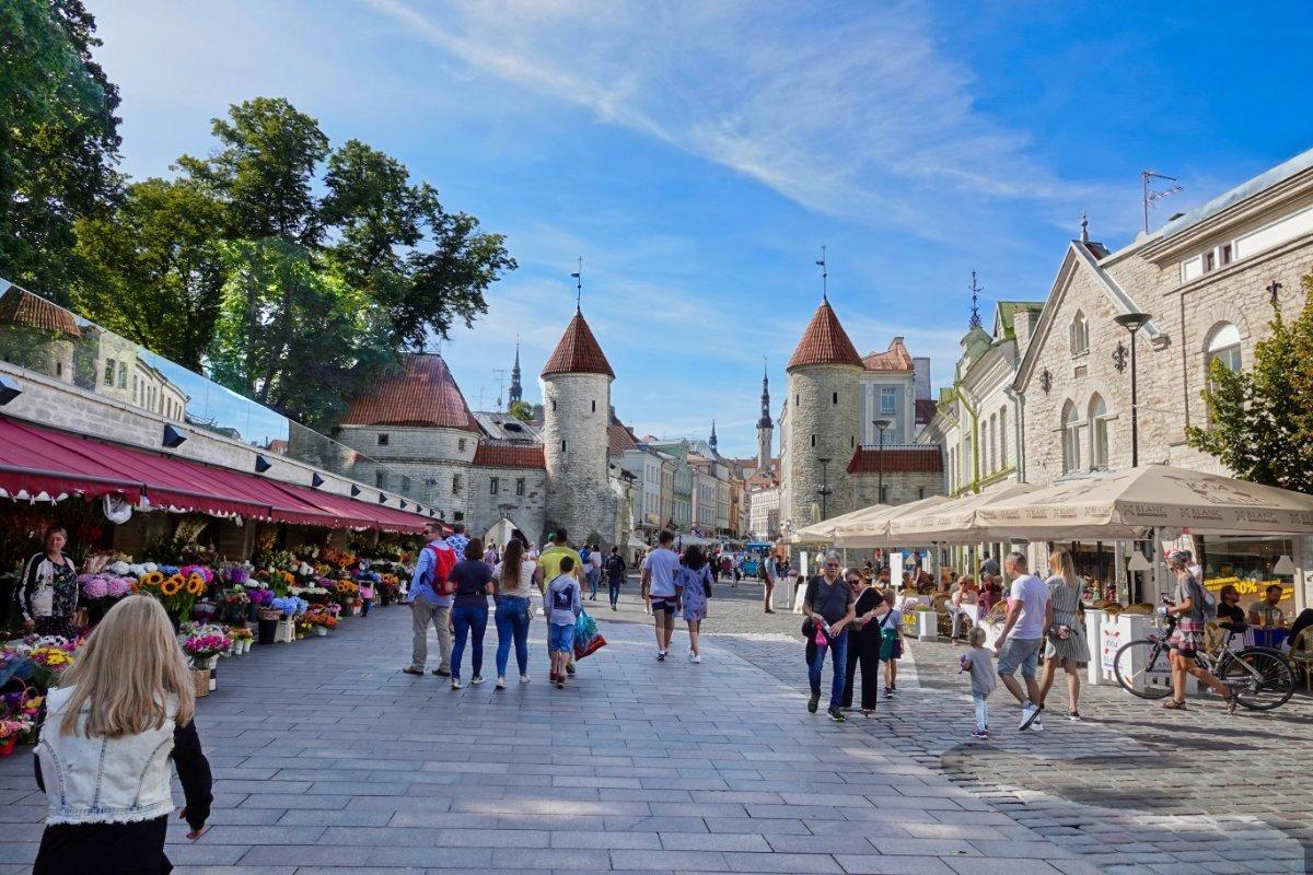 Der Eingang zur Unterstadt der Tallinner Altstadt