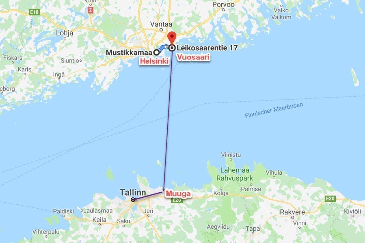 Helsinki - Vuosaari - Muuga - Tallinn