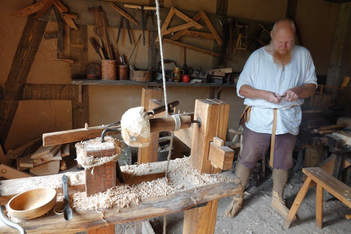 Holzdrexelwerkstatt aus dem Mittelalter